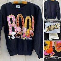 Vintage BOO! Peanuts Halloween Theme Sweatshirt United Features Syndicate M