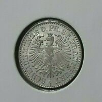 Frankfurt 3 Kreuzer 1866 Unc Silver Full Luster Coin Germany Flashy