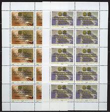 VATICANO 2005 - CONCORDATO, SERIE 2 MINIFOGLI DI 10 ESEMPLARI