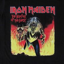 FREE SAME DAY SHIPPING NEW CLASSIC IRON MAIDEN # NUMBER OF THE BEAST LARGE