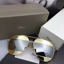 AUTHENTIC 2016  NEW  CHRISTIAN DIOR Split Rose Gold Frame Gray Lens SUNGLASSES