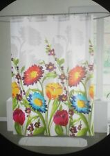 CYNTHIA ROWLEY FIORINA BIG FLORAL FLOWERS RED YELLOW (1) FABRIC SHOWER CURTAIN