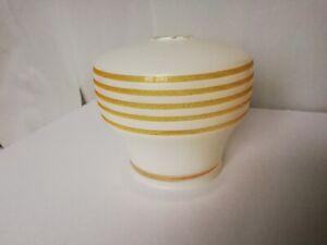Vintage glass ceiling light shade white gold 1950s 60s retro