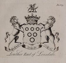 1779 ANTIQUE PRINT ~ Eliot ~ Family Crest Armoiries