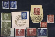 East Germany 1950-1952 Mi 251-255 Individuals and on cover used