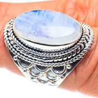 Rainbow Moonstone 925 Sterling Silver Ring Size 7.5 Ana Co Jewelry R58530F