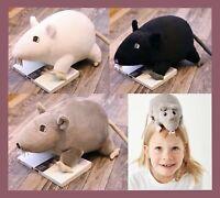 💙Gosig Ratta Black Rat Soft Toy Plush Cuddly Teddy Stoftier Peluche Stuffed💙