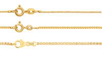 42 45 50 55 60 cm 1,0mm Karabiner Binder 14 Karat Kette Kugel 585 Gold