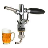 G5/8 Kompensatorschankhahn mit Schaumtaste chrom Zapfhahn Edelstahl Bier zapfen
