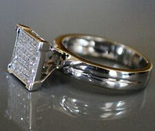 14 kt White Gold Diamond Engagement Ring / Round Cut , Twd  0.49 ct