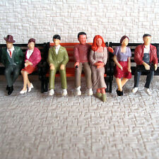 14 pcs G Scale 1:32 Painted Figures all seated People