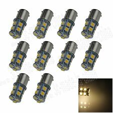 10X Warm White 1156 G18 Ba15s 13 5050 LED Turn Signal Rear Light Bulb Lamp D003