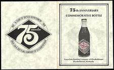 Coca Cola Paper Label Bottle Brochure For The 75th Anniversary Of A Coke Plant