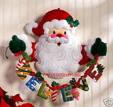 "Bucilla Believe in Santa ~ Felt Christmas Wall Hanging Kit #86189 - 20"" x 17"""