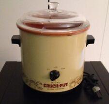 Vintage Crockpot Avocado Green Rival 3.5QT Electric Crock Pot Slow Cooker Works