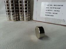 """Neodymium disc Magnet 3/4"""" dia x.3125"""" H cylinder N35 Rare Earth 12 each new"""