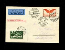 Zeppelin Sieger 48 1929 Boblingen Flight SwitzerlandTreaty Dispatch SLH ZF108
