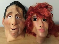 Rare Al & Peggy Bunny Masks Made Germany Halloween Costume Married Children HTF