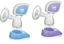 Electric Electronic Breast Pump, silicone gel, massager BPA-Free BLUE