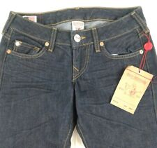 "NWT TRUE RELIGION ""CHRISTINA"" Straight Inglorious Womens Jeans Dark Navy Size 25"