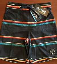 Salt Life Boys Size Youth Small SLX-QD Mexatropic Striped Swim Trunks MSRP $45