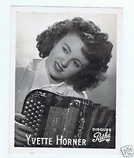PHOTO YVETTE HORNER DISQUES PATHE