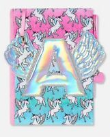 NWT JUSTICE Girls 🦄🦄Unicorn Winged Initial Journal So Fun!! You Choose Letter!