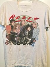 VTG 80s HEART '85-'86 WORLD TOUR 2-Sided DISTRESSED 50/50 Tshirt GLAM ROCK XS/S