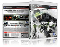 Tom Clancy Splinter Cell Blacklist - Replacement PS3 Cover and Case. NO GAME!!