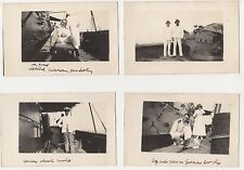 On Board German Salvaged Gun Boat, Lot of 4 Real Photo Postcards B636