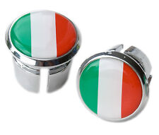 Italian Flag Bicycle Handlebar Chrome Plastic Bar Plugs, Bungs, Caps L'Eroica