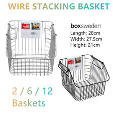 Wire Stacking Baskets Stackable Storage Container Kitchen Rack Vegetable Fruit