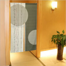 Japanese Noren Doorway Curtain Room Divider Blind Tapestry Double Circle Printed