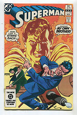 Superman #389 NM  How Can I Strike Back Against My Own Brother  DC Comics CBX11