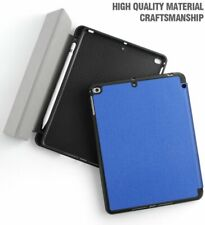 For Apple iPad 9.7 -inch 2018 Model Tablet Folio Case Cover w/Pencil Holder Blue