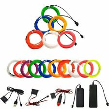 Party Decor Battery Operated EL Wire Neon Glow LED Car Light String Strip Rope