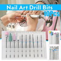 10/set Nail Art Grinding Drill s Electric Manicure Machine Diamond Bullet