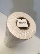 """6000 White """"Lot# Sell By"""" Date Gun Labels for Towa 2, Gl, Century Speedymark 4"""