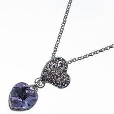 4.58ct Corte Corazón Estilo forma Amatista violeta 18 Ct Bañado en oro blanco