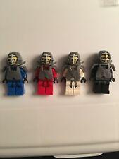 LEGO Ninjago minifigures LOT Kai,Cole,Jay,Zane with armor! Rare helmet chest