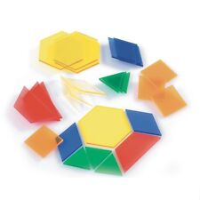 Translucent Pattern Blocks Pk 49 Maths 2d shapes, symmetry and light table fun