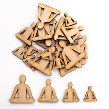 Wooden MDF Shapes Crafts Buddha Embellishments Scrapbook Decoration Card Making
