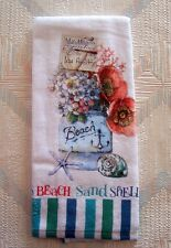 1 Red Lobsterfest Coastal Cotton Terry Country Kitchen Dish Towel