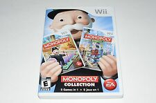 Monopoly Collection Nintendo Wii Game Complete w/ Manual