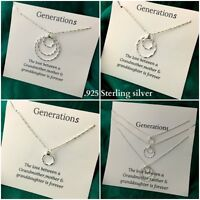 Three Generations Necklace Sterling Silver Triple Circle Ring Necklace