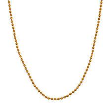 Damenkette in Gelbgold 750 / 3,9 g. Kugelmuster, Länge 42 cm