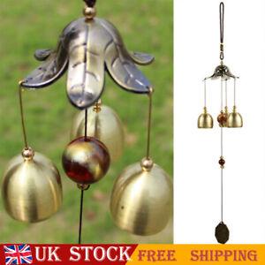 40cm Feng Shui Bagua Lucky Wind Chimes 3 Bells Outdoor Home&Garden Hanging Decor