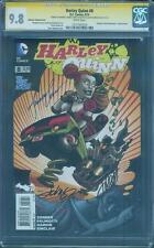 Harley Quinn 8 CGC SS 9.8 Batman 75 Variant Johnson Conner Palmotti 3 Sign Top 1