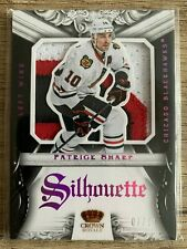 2012-13 PANINI CROWN ROYALE PATRICK SHARP PATCH GAME USED SILHOUETTE Blackhawks