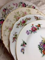 4 - Vintage Mismatched China Dessert Cake Bread Plates mix multi color # 180